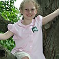 Olivia in tree