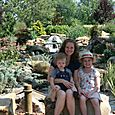 Ashley, Olivia, and Isaac in Botanical Garden