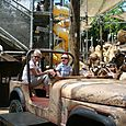Isaac driving Jeep in Dinoland Maze