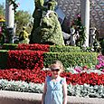 Olivia in front of Cinderella