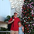Michael & Olivia after riding Spaceship Earth