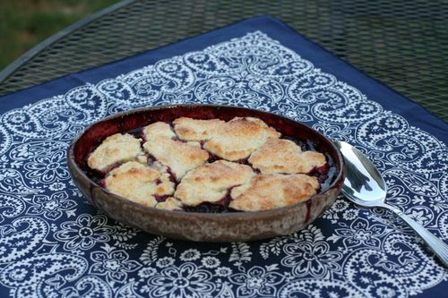 Blackberry cobbler 001