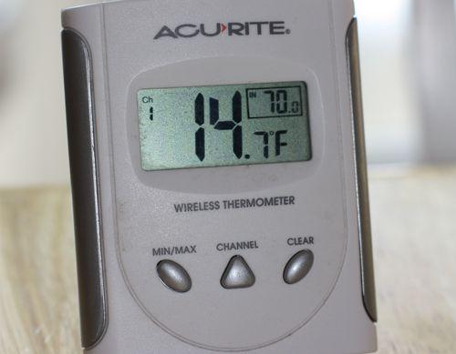 14 degrees