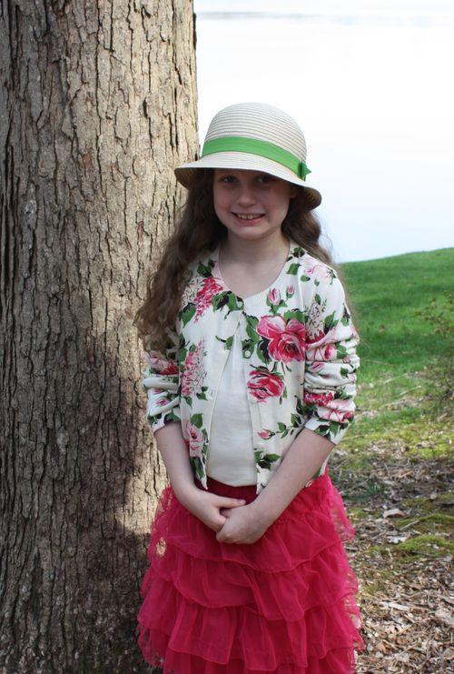 Olivia in hat