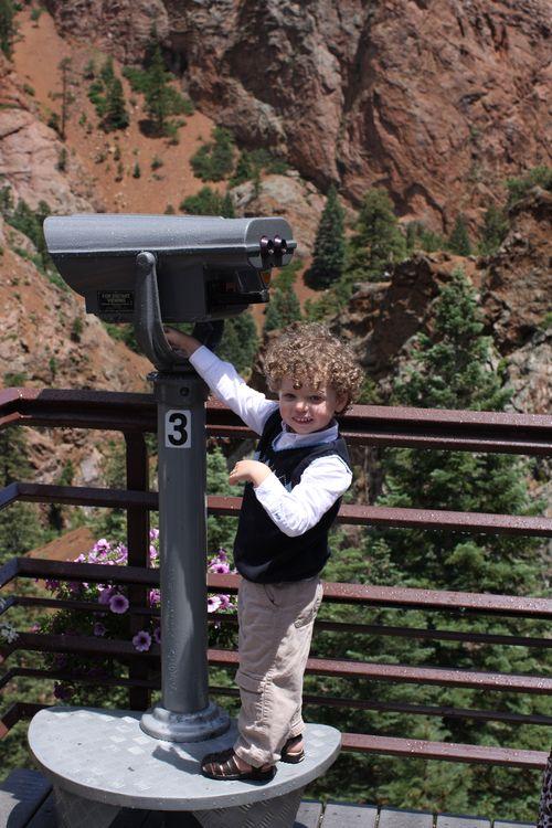 Isaac and binoculars