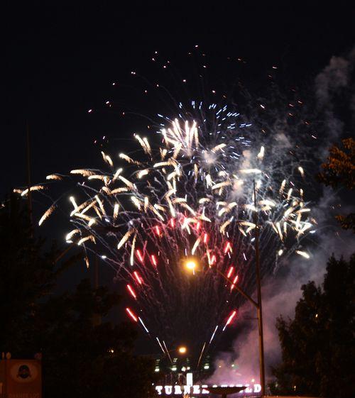 Turner field fireworks