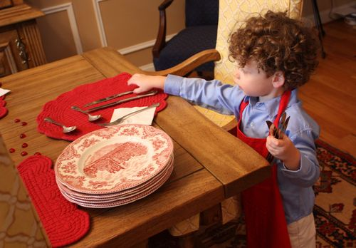 Isaac setting table