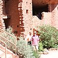 Dad & Michael at cliff dwelling
