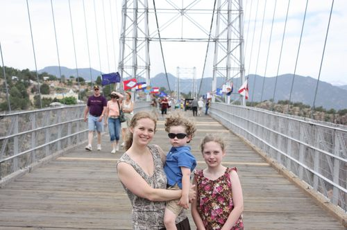 Standing on royal gorge bridge