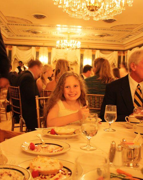 Olivia at dinner