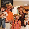 Isaac, Granddad, Olivia, Grandma, & Joshua