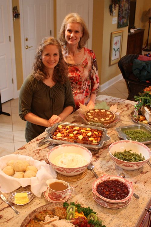 Mary & ashley by food