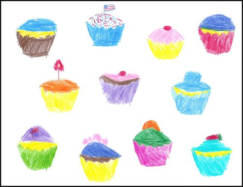 Olivia cupcake art