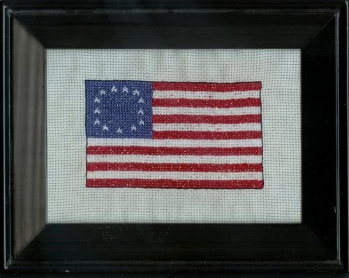 Betsy ross flag cross stitch