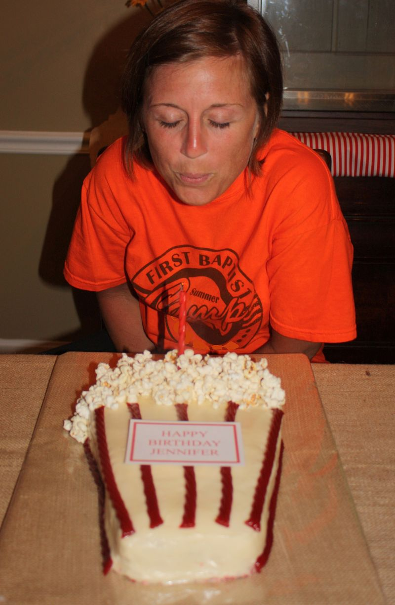 Blowing out candle