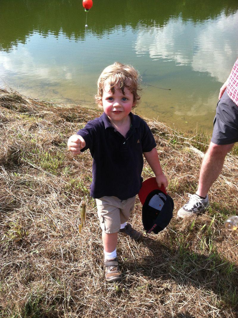 Joshua with fish 4