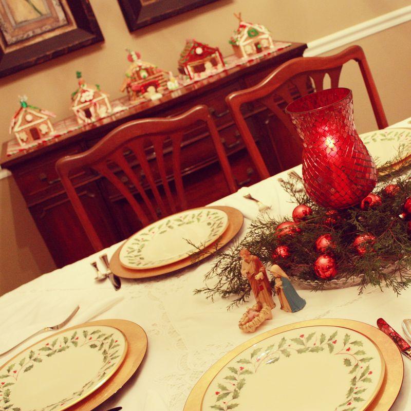Christmas brunch table