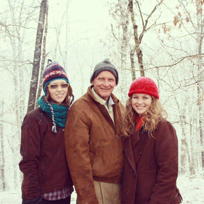 Allison, Dad, me