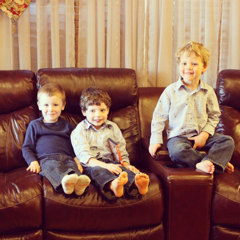 Boys on couch