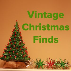 Vintage tree and ornaments
