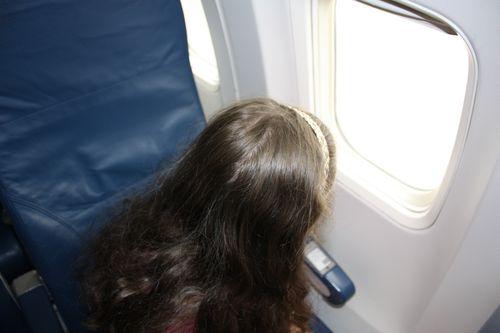 Olivia's first airplane experience