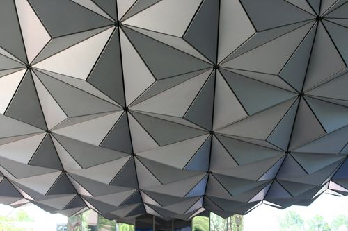 Close-up of Spaceship Earth