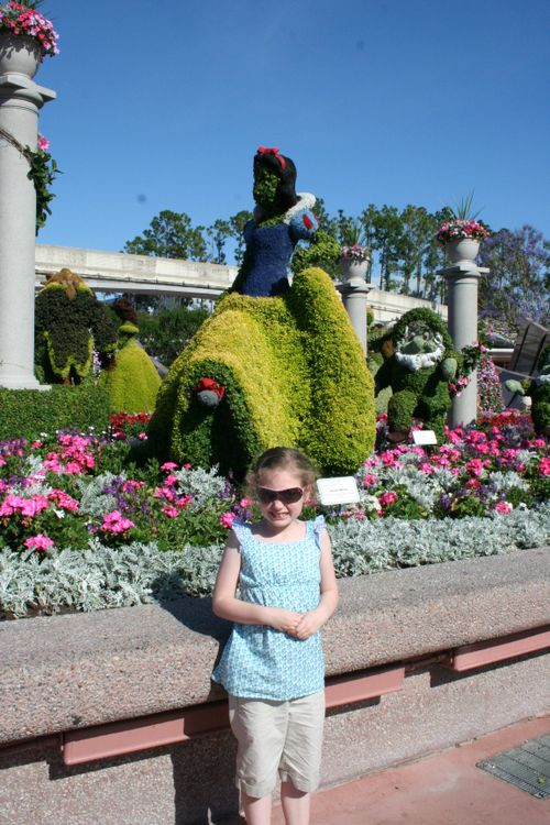 Olivia in front of Snow White