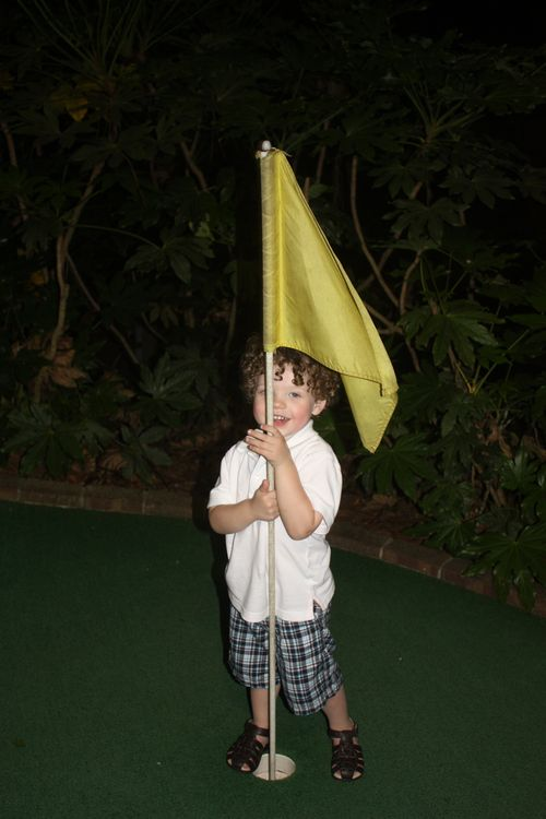 Isaac and the flag