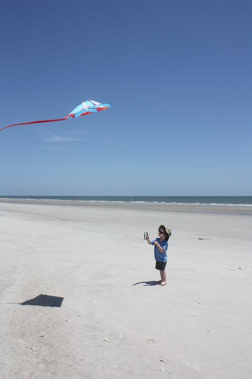 Isaac flying kite