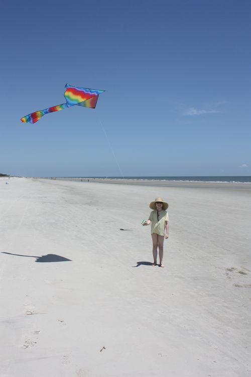 Olivia flying kite