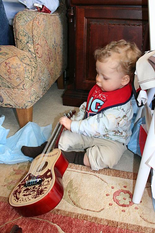 Isaac & guitar