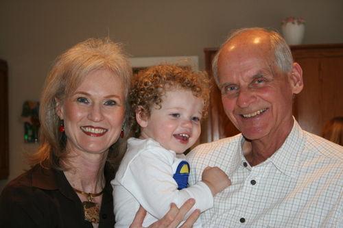 Isaac with Granddad & Grandma