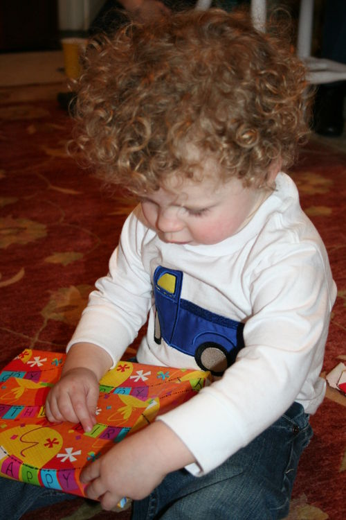 Isaac opening presents