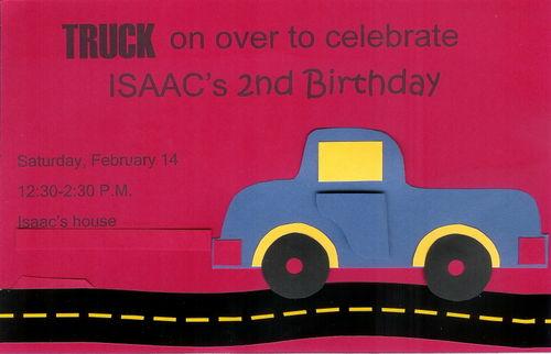 Truck invitation