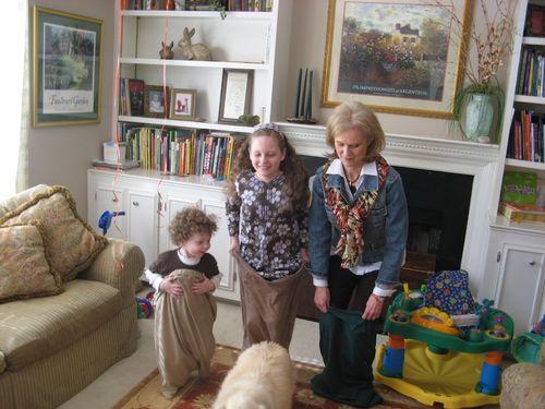 Potato Sack Race - Isaac, Olivia, & Grandma