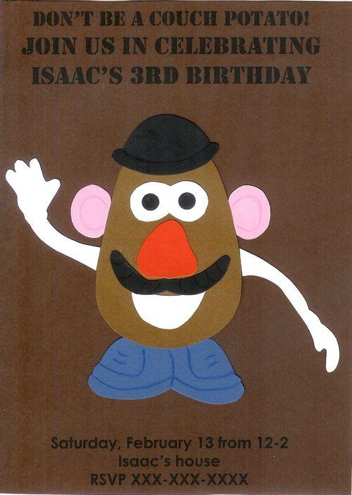 Mr. Potato Head Invitation