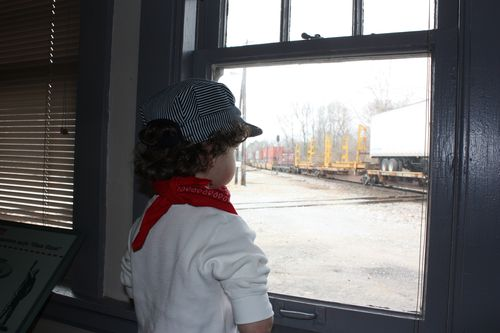Watching a train go by