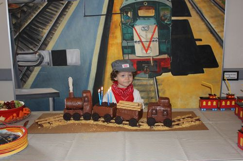 Isaac and his birthday cake