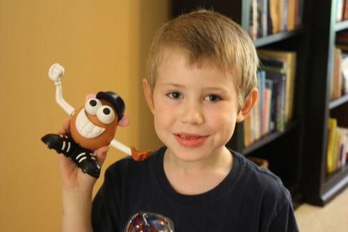 Jude and his Mr. Potato Head