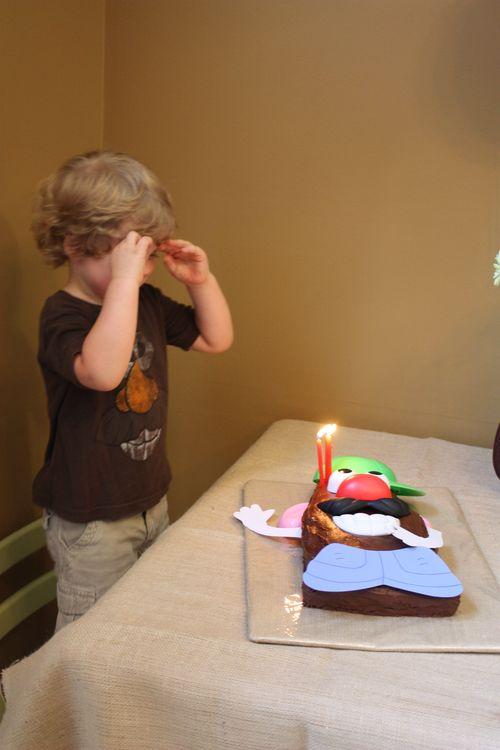"""Singing """"Happy Birthday"""" to the shy Birthday Boy"""