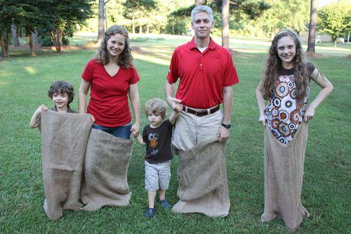 Our Family Potato Sack Race