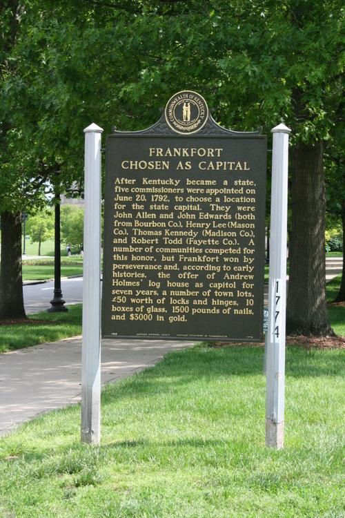 Frankfort Historical Marker
