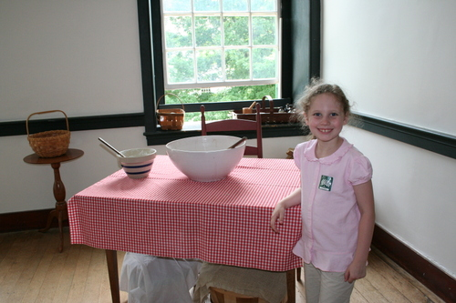 Olivia with Shaker cooking items