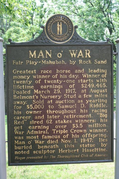 Man o' War Historical Marker