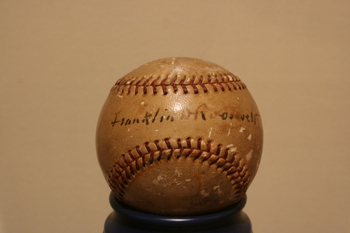 Baseball signed by FDR
