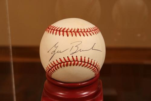 Baseball signed by George W. Bush
