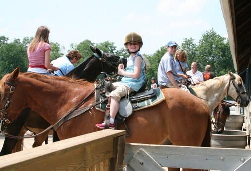 Olivia & Michael on horses