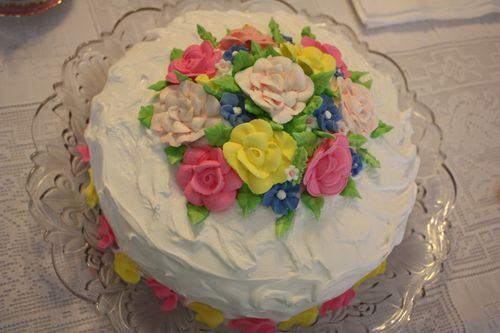Olivia's Birthday Cake ~ Martha Washington's Great Cake