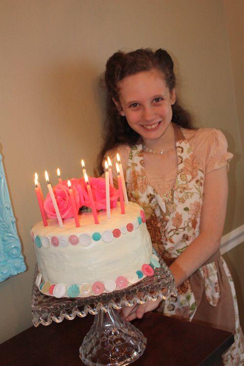 Birthday Girl and her cake