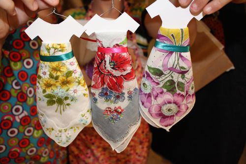 Paper doll handkerchief skirts